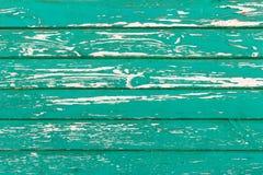 Stara zielona drewniana tekstura z naturalnymi wzorami Zdjęcie Royalty Free