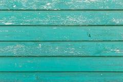 Stara zielona drewniana tekstura z naturalnymi wzorami Fotografia Stock