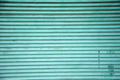 Stara zielona metal ściana Zdjęcie Stock