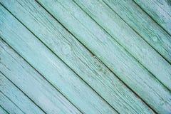 Stara zielona tło deski tekstury przekątna zdjęcia royalty free