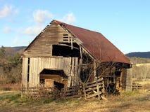 stara zimy popołudniową stodole Obraz Stock