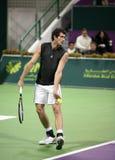 Starace playing at the Qatar Open Stock Photo
