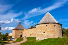 Staraya拉多加堡垒,列宁格勒地区,俄罗斯 库存照片