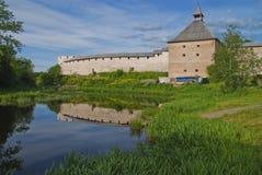 Staraya拉多加堡垒 免版税库存照片