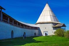 Staraya拉多加市的古老堡垒, 库存图片