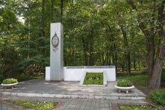 Staraya russa monumento in onore dell'apertura della località di