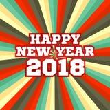 Starbeam nowego roku plakat w retro kolorach Zdjęcie Stock