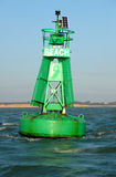 Starboard Maritime Buoy. Royalty Free Stock Photos