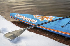 Starboard racing stand up paddleboard Royalty Free Stock Images
