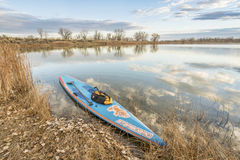Starboard racing stand up paddleboard Royalty Free Stock Image