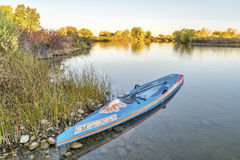 Starboard racing stand up paddleboard Stock Image