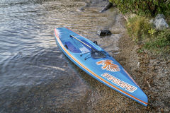 Starboard racing stand up paddleboard Royalty Free Stock Photography