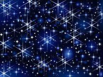 Starbright sky, Christmas sparkle stock illustration