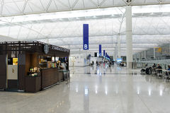 Starbucks cafe  in airport Royalty Free Stock Photo