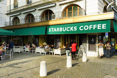Starbucks cafe at city center Stock Photography