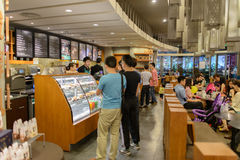 Free Starbucks Cafe Interior Royalty Free Stock Photos - 46227378