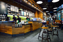 Free Starbucks Cafe Interior Royalty Free Stock Images - 64600139