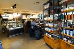 Starbucks cafe interior Stock Photography
