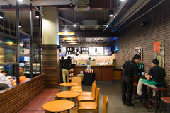 Starbucks cafe interior Royalty Free Stock Photos