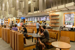 Starbucks Cafe interior Stock Images