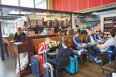 Starbucks cafe in Orly Airport Stock Photography