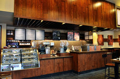 Starbucks coffee. A interior view of starbucks in wuhan city, hubei province, china