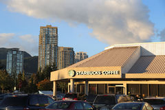 Starbucks Coffee in Coquitlam Canada Royalty Free Stock Photos