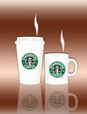 Starbucks Coffee Cup and Mug Stock Image