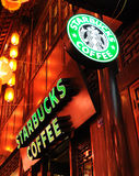 Starbucks coffee in Jinli old street Royalty Free Stock Photos