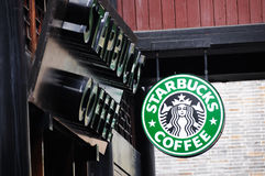 Starbucks coffee in Jinli old street Royalty Free Stock Image