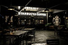 Starbucks Coffee located at Universal City in Orlando, Florida Stock Photos