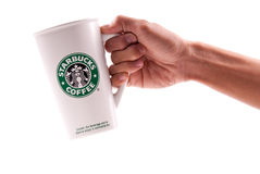 Starbucks Coffee Mug Stock Image