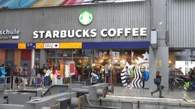 Starbucks Coffee Munich central station Royalty Free Stock Photography