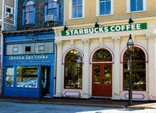Starbucks Coffee, Newport, Rhode Island. Royalty Free Stock Photography