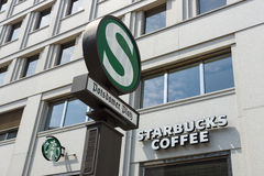 Starbucks Coffee at Potsdamer Platz Royalty Free Stock Images