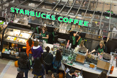 Starbucks Coffee Shop in Shopping Mall Royalty Free Stock Photography