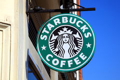 Starbucks Coffee Sign Stock Image