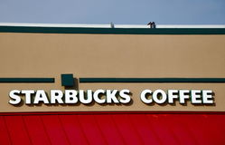 Starbucks Coffee sign Royalty Free Stock Photo
