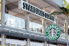 Starbucks Coffee sign Royalty Free Stock Photos