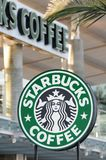 Starbucks Coffee sign Stock Photos