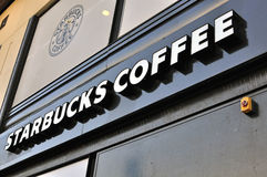 Starbucks coffee sign Royalty Free Stock Photography