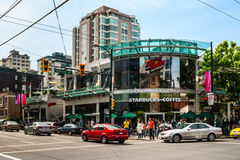 Starbucks Coffee in Vancouver, Canada Stock Photos