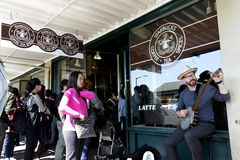 Starbucks first store Stock Photos