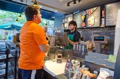Starbucks. A interior view of Starbucks Stock Photo