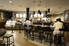 Starbucks kawiarni wnętrze Fotografia Stock