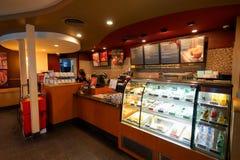 Starbucks kawiarni wnętrze Obrazy Royalty Free