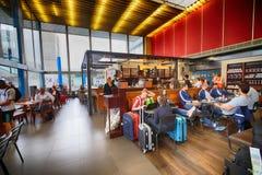 Starbucks kawiarnia w Orly lotnisku fotografia royalty free