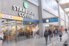 Starbucks munich central station Royalty Free Stock Photography