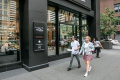 Starbucks Reserve location in midtown Manhattan stock photography