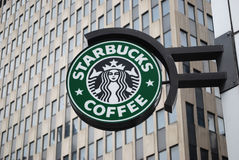 Starbucks sign Stock Photography